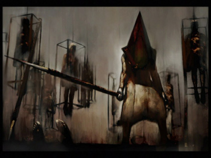 geek add, scary video games, pyramid head, silent hill