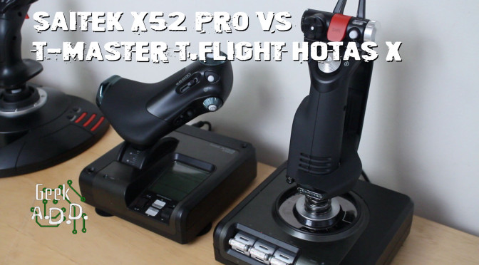 Thrustmaster T-Flight HOTAS X vs Saitek X52 Pro