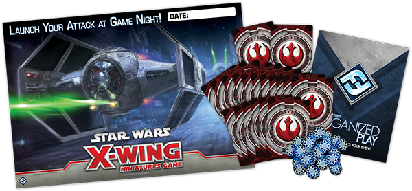 Old-school X-Wing Game Night Kit with shield tokens!!!!!