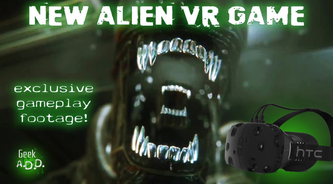 LEAKED! New Alien VR Game!  HTC Vive!