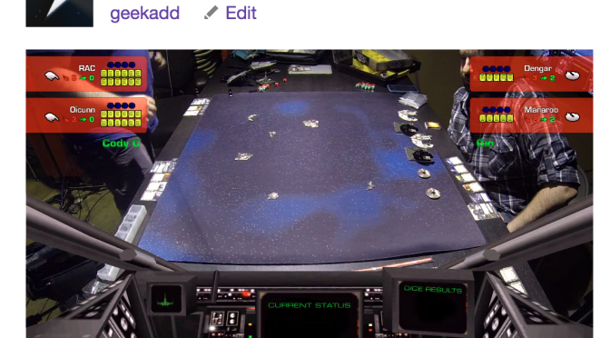 We're streaming some X-Wing right now… NBD…