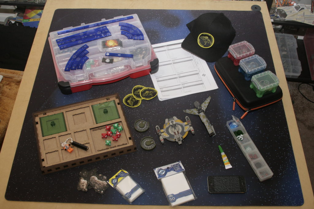 Cody C's worlds X-wing kit spread out on a table.