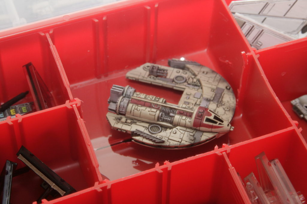A modified Plano box for X-Wing