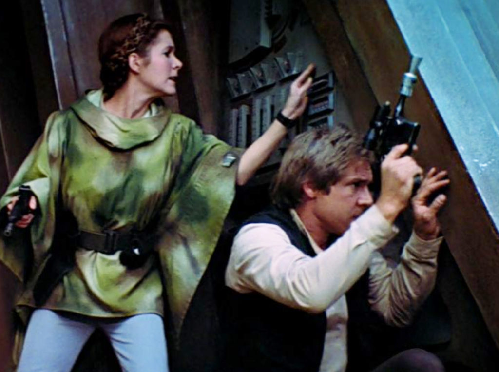 Leia getting her boots dirty with Han and the Rebel Commandos
