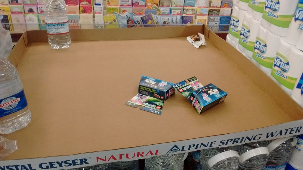 A suspiciously small pile of LEGO Dimensions