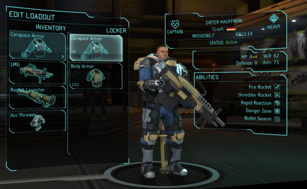 Building a Heavy soldier in XCOM:EW