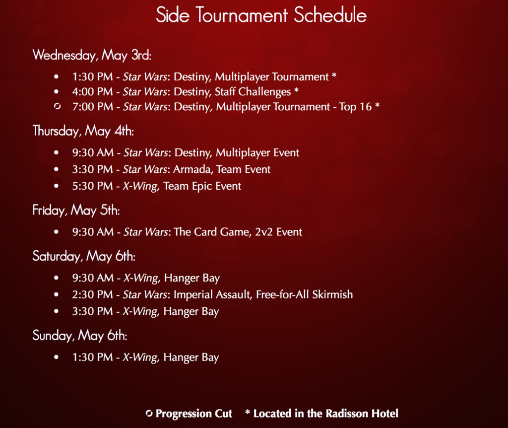 Side Event Schedule
